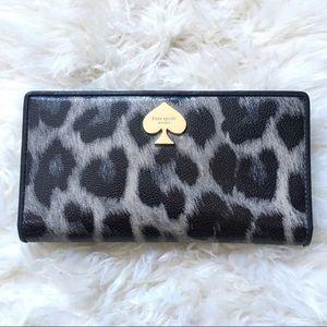 Kate spade animal print long wallet